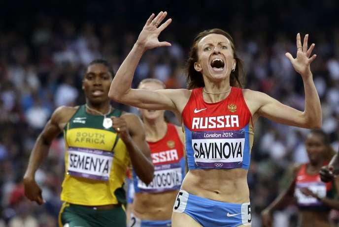 Mariya Savinova, championne olympique du 800 m à Londres, en 2012, risque une suspension à vie.