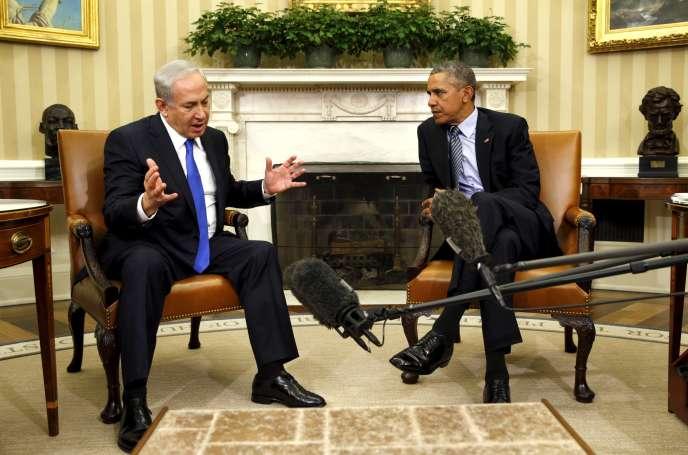 Le président américain, Barack Obama, rencontre le premier ministre israélien, Benyamin Nétanyahou, le 9 novembre 2015 à Washington.