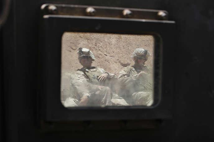 Des marines américains à l'entraînement dans la région d'Akaba, en juin 2013.