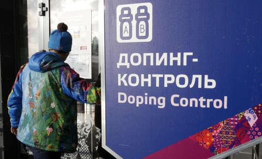 Contrôle antidopage lors des JO de Sotchi, le 21 février 2014.
