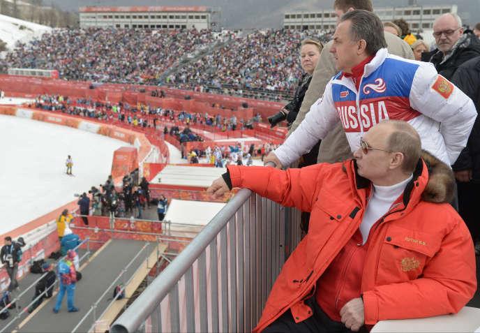 Vladimir Poutine lors des JO de Sotchi, le 8mars 2014.