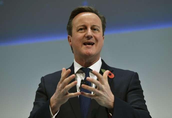 David Cameron, lundi 9 novembre, à Londres.