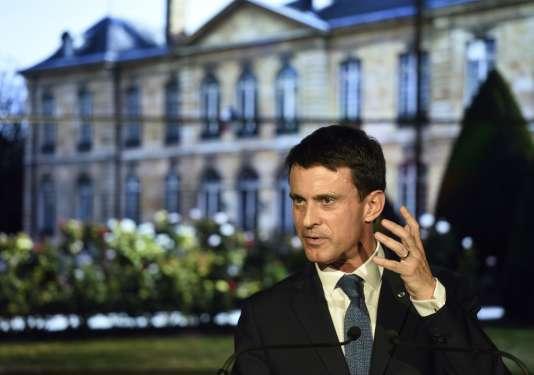 Manuel Valls à Paris, le 9 novembre.