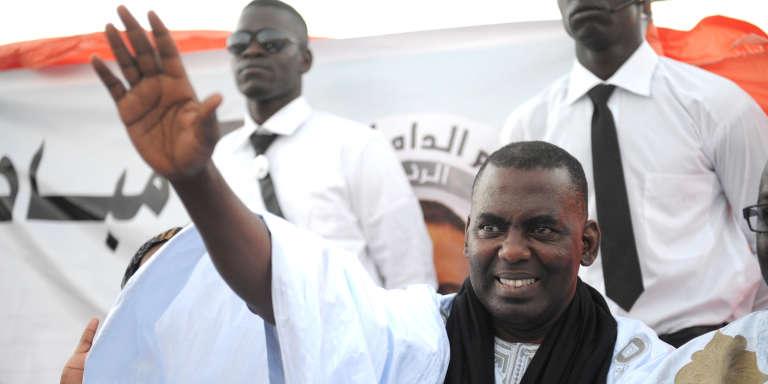 Le militant mauritanie BiramOuld Dah Abeid, président de l'ONG Initiative pour la résurgence du mouvement abolitionniste, à Nouakchott, en juin 2014.