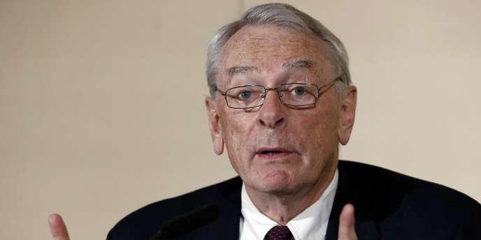 Richard Pound, président de la commission indépendante de l'Agence mondiale antidopage, le 9 novembre 2015.