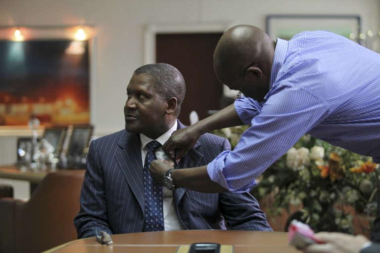 Aliko Dangote, l'homme le plus riche d'Afrique, dans ses bureaux de Lagos.