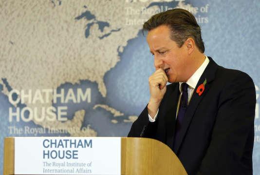 David Cameron, le 10 novembre à Londres.
