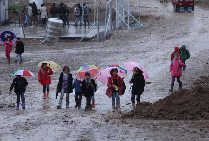 Des réfugiés à Erbil en Irak le 9 novembre 2015.