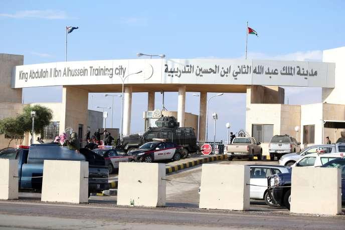 Le centre  Roi-Abdallah, à Amman, après l'attaque qui a fait cinq morts, le 9 novembre.