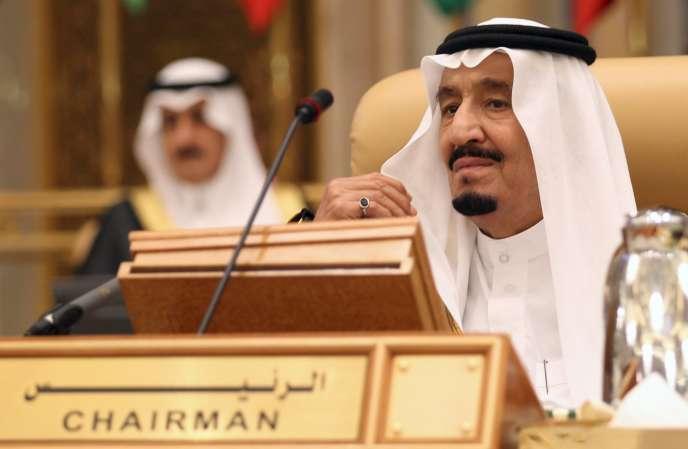Le roi d'Arabie saoudite Salmane lors du sommet Amérique du Sud-pays arabes à Riyad, le 10 novembre.