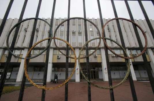 Le siège du Comité olympique russe à Moscou, le 10 novembre.