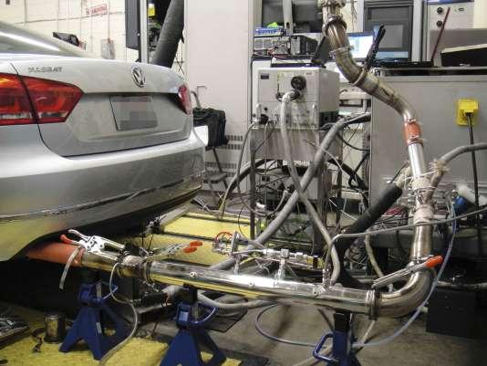 Expertise sur le moteur diesel d'un véhicule de la firme de Wolfsburg