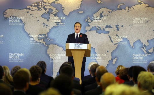 David Cameron lors d'un discours sur les réformes que réclame le Royaume-Uni à l'Union européenne, le 10 novembre.