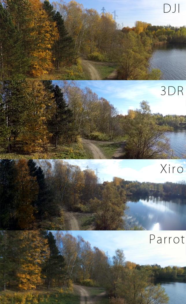 Qualité des images filmées par les quatre drones de notre test.