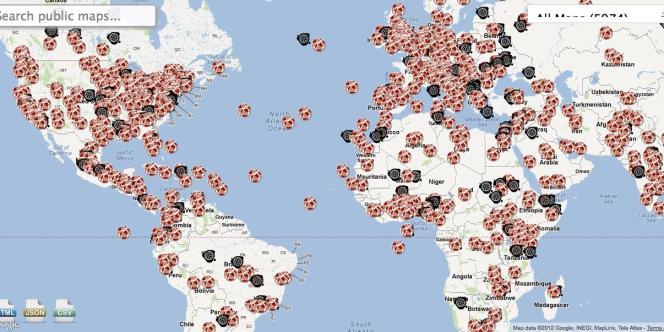 Présente sur quatre continents, la plate-forme Ushahidi a été utilisée par plus de 60000 projets dans le monde.