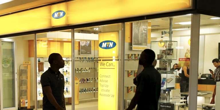 Une boutique MTN au Cap, en Afrique du Sud.