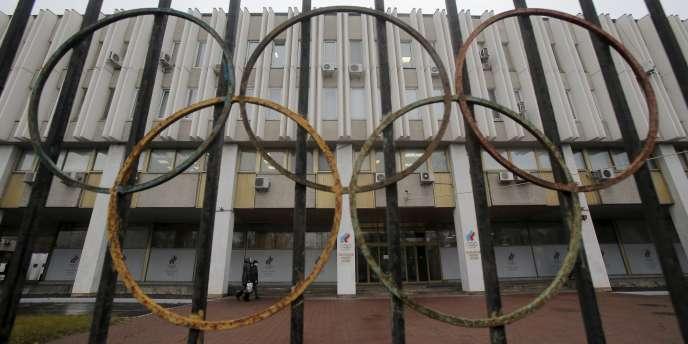 Le siège du Comité olympique russe à Moscou.