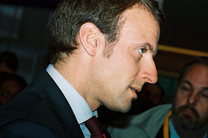 Emmanuel Macron à  Paris, le 15 octobre.