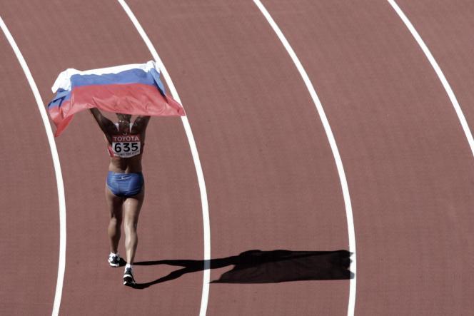 Une athlète russe, en 2007.