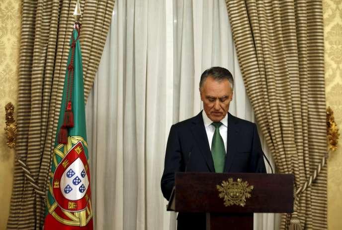 Le président Anibal Cavaco Silva, à Lisbonne, le 6 octobre 2015.