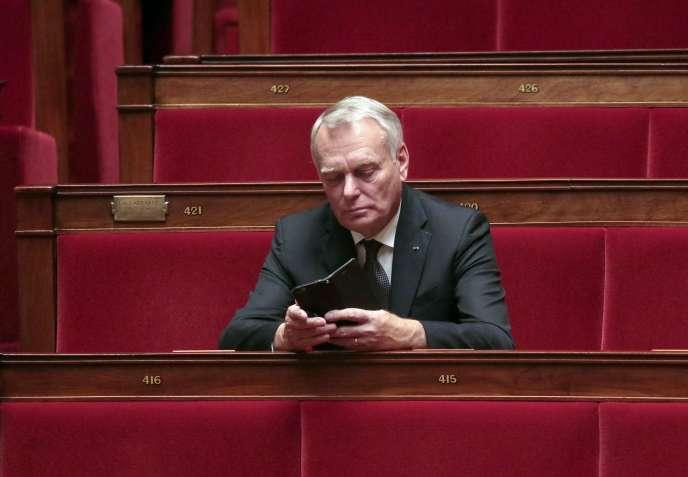 Jean-Marc Ayrault à l'Assemblée Nationale le 4 novembre 2015.