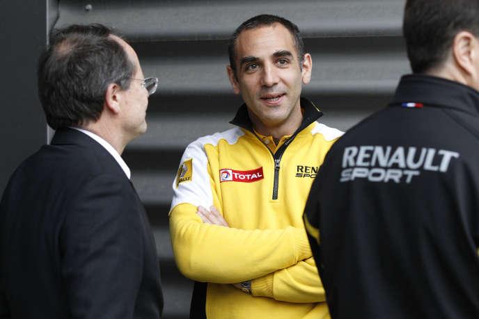 Cyril Abiteboul lors du Grand Prix de Belgique, sur le circuit  de Spa Francorchamps, du 29 au 31 mai.