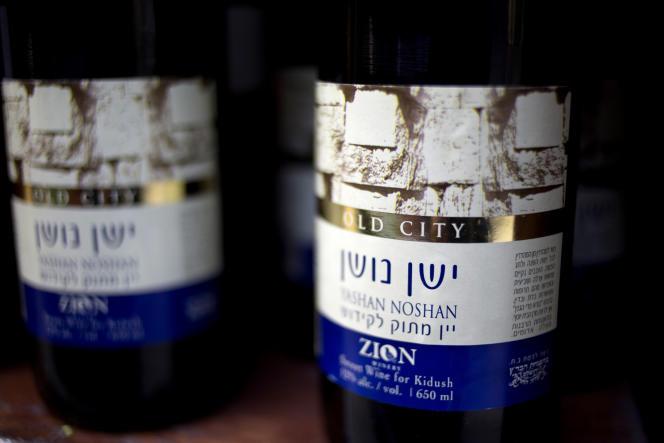 Du vin en provenance de Cisjordanie.
