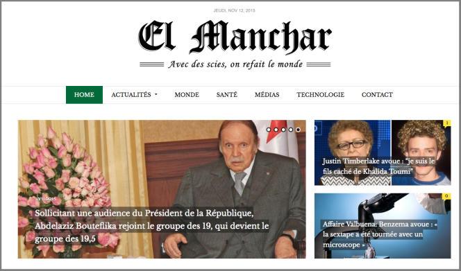 Le président algérien Abdelaziz Bouteflika est l'une des cibles de choix du site parodique.