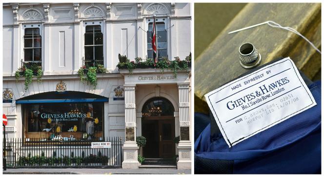 Au n°1 Savile Row, le tailleur Gieves & Hawkes, racheté par le groupe hongkongais Li & Fung  en 2012.