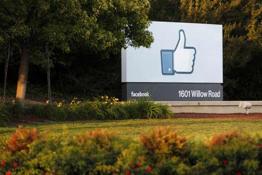 Les bureaxu de Facebook dans la Silicon Valley, en Californie.