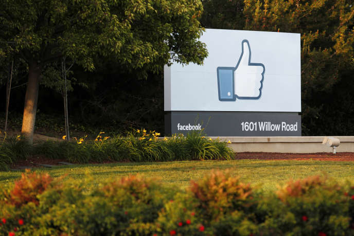 Les bureaxu de Facebook dans la Silicon Valley, en Californie.