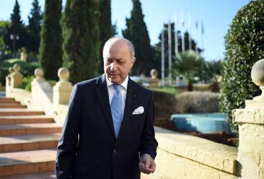Laurent Fabius, le 12 novembre à Malte.