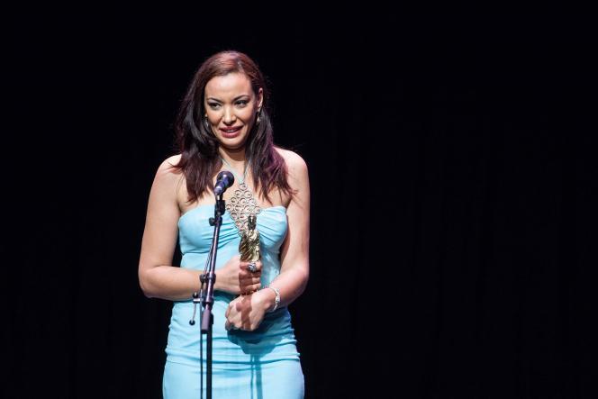 Loubna Abidar au Festival du film francophone d'Angoulême, le 30 août 2015.