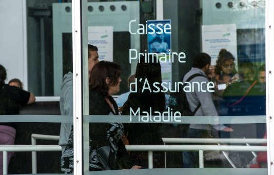 Agence de la Caisse primaire d'assurance-maladie, à Tourcoing en 2014.