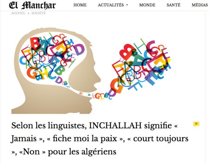 Une illustration humoristique publiée par El Manchar.