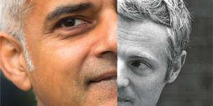 Sadiq Khan et Zac Goldsmith.