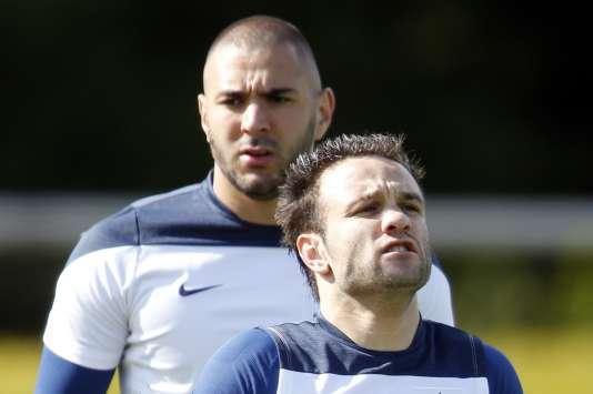 Karim Benzema et Mathieu Valbuena.