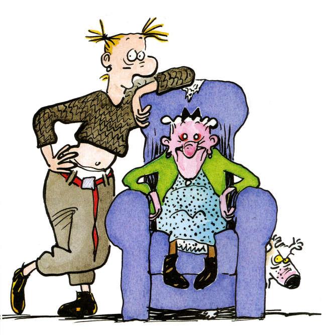 """""""Agrippine découvre l'existence de Zonzon, son arrière-grand-mère, dont elle n'avait jamais entendu parler, du fait d'une brouille familiale. Personnage truculent, Zonzon ignore tous les codes de la bienséance, et ses gesticulations pour s'extirper de son fauteuil sont hilarantes""""."""