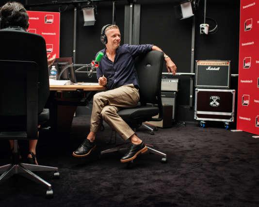 Laurent Goumarre, le 31août, à la Maison de la radio.