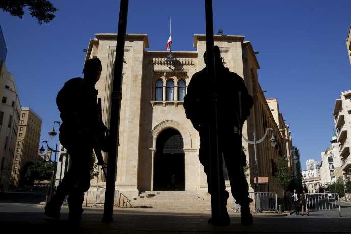 Le Parlement libanais (ici en novembre 2015) aadopté, dans la nuit du 19 au 20octobre, les lois et règlements nécessaires à l'échange d'informations financières avec les autres Etats lors d'enquêtes fiscales de l'administration ou de la justice.