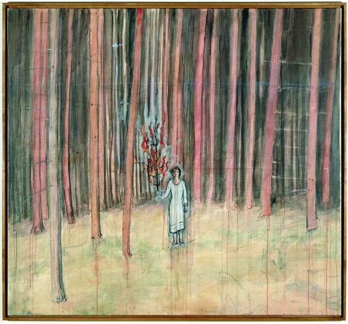 « Avec cet autoportrait, l'artiste sort de la forêt, le lieu des mythes germaniques, figure de démiurge, et tenant un arbre en feu en guise de flambeau. Jeune artiste, Kiefer sortait du bois pour aller rencontrer son aîné Joseph Beuys à la Kunstakademie de Dusseldörf. »