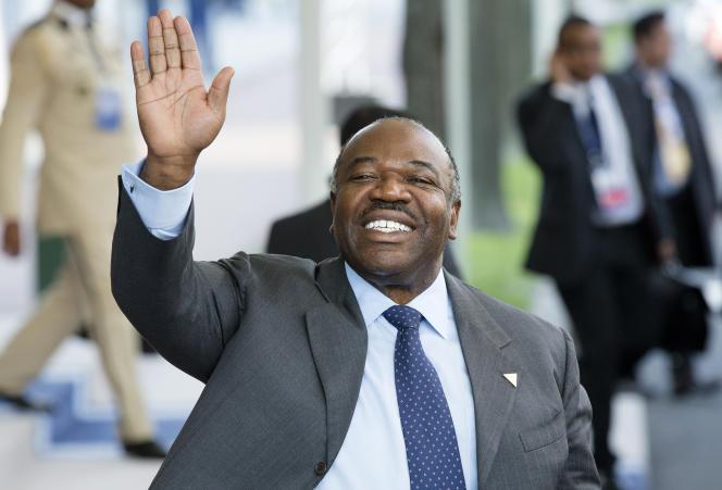 Le président du Gabon Ali Bongo, en mars 2014.