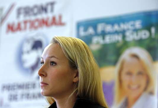 Marion Maréchal-Le Pen, la candidate FN à la tête de la région Provence-Alpes-Côte d'Azur, à Carpentras le 10 novembre.