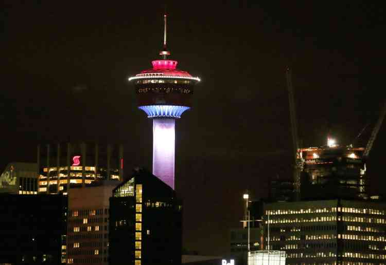 La Tour de Calgary en Alberta le 13 novembre.