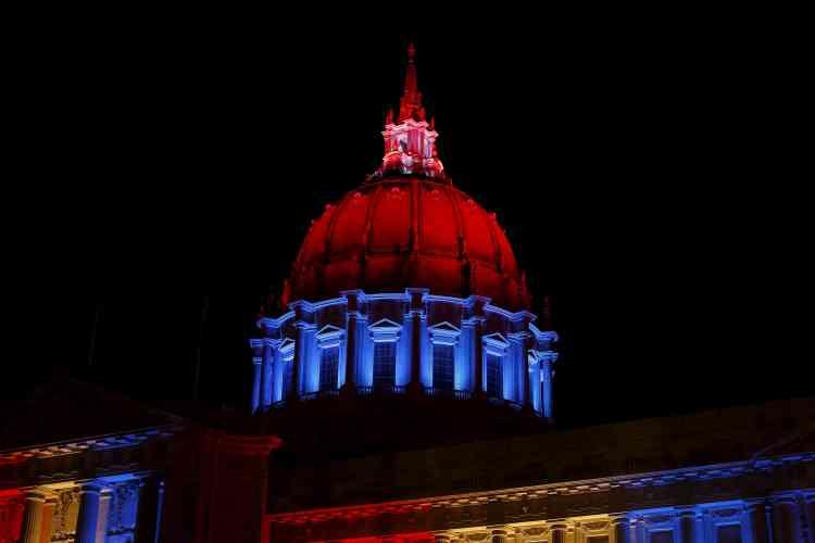 L'hôtel de ville de San Francisco, aux Etats-Unis, le 13 novembre.