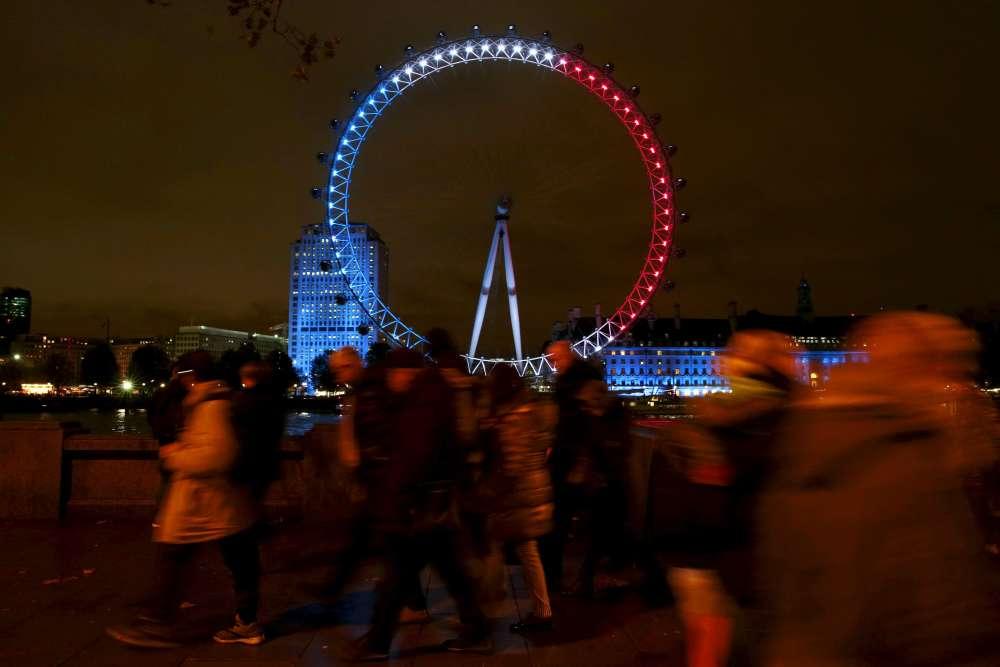 Le London Eye, à Londres, le 14 novembre.