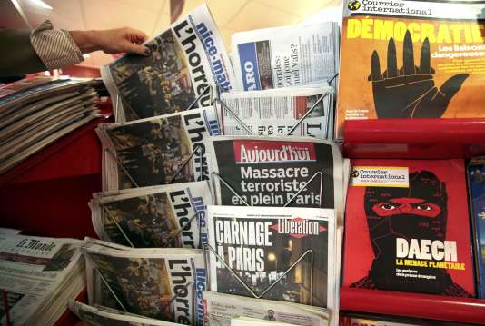 La presse, le lendemain des attentats du 13 novembre.
