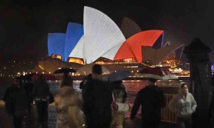 L'Opéra de Sydney, en Australie,  le  14 novembre.