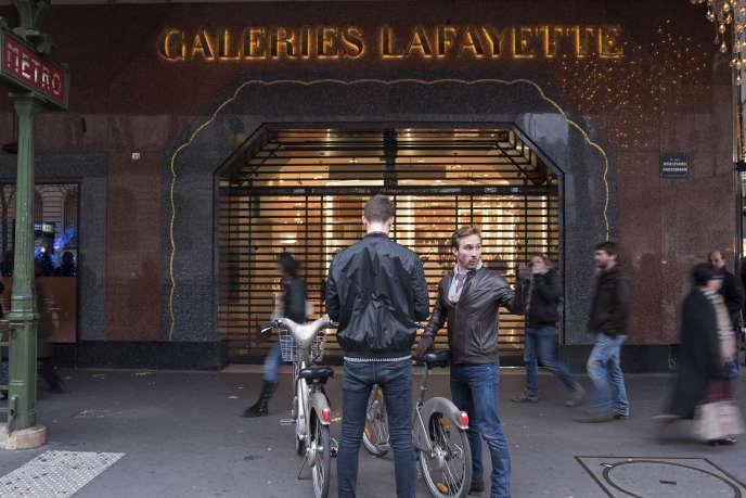 Galeries Lafayette, boulevard Haussmann à Paris.
