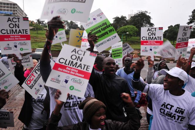 Manifestation contre le réchauffement climatique à Nairobi, au Kenya, le 14 novembre.